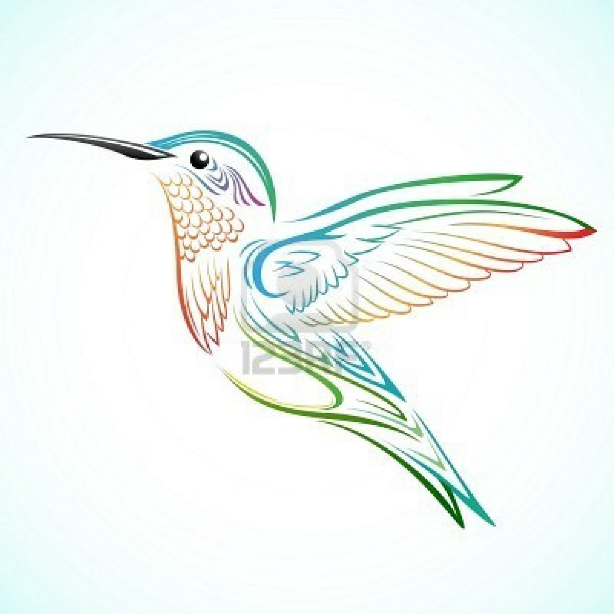 Hummingbird With Hibiscus Flower Tattoo