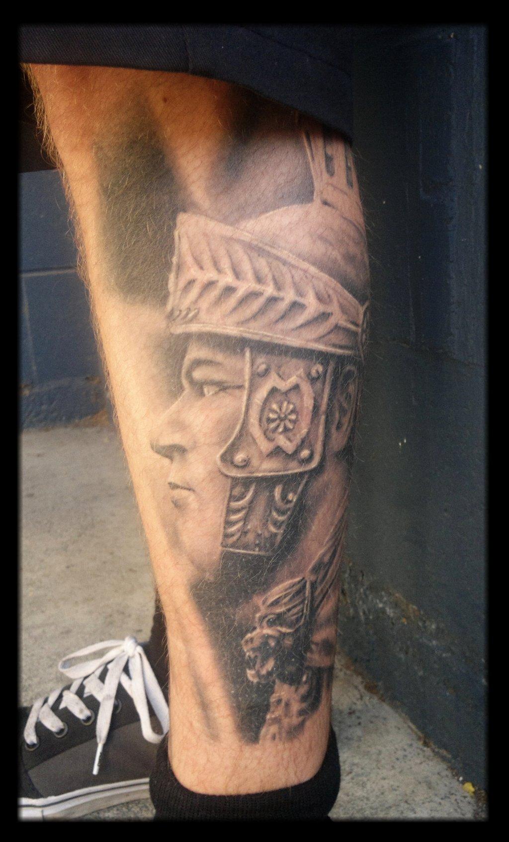 Roman empire tattoos, old english letter b