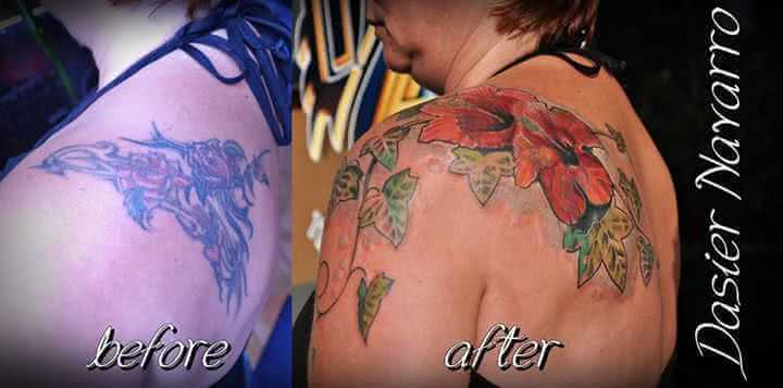 Tattoo Schulter Tattoo Cover up Blume