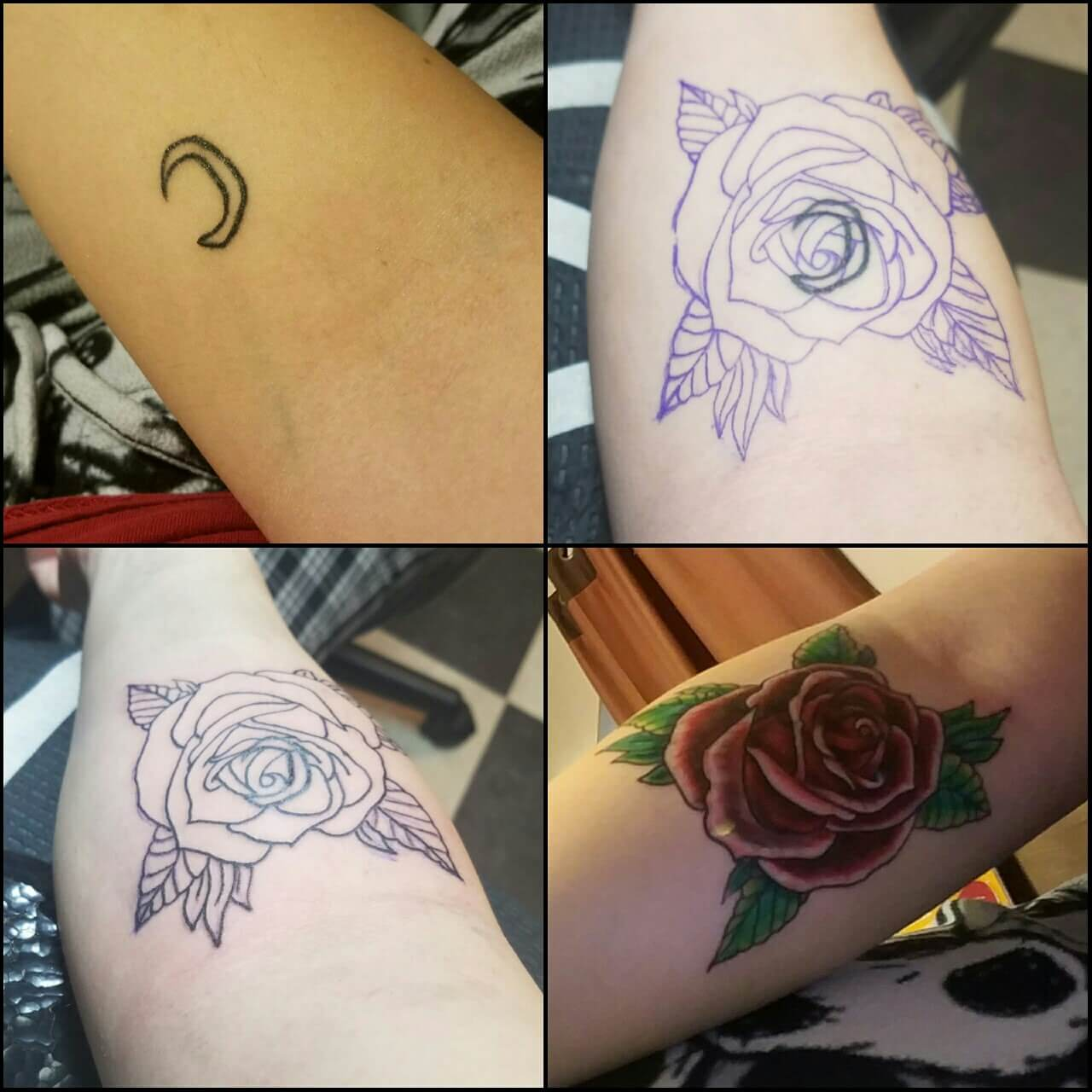 Tattoo Cover Up Rose