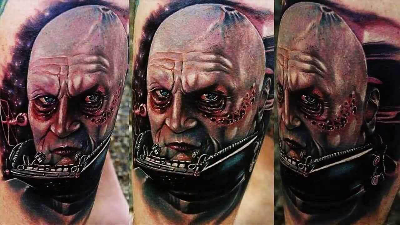 Tattoo Darth Vader ohne Helm