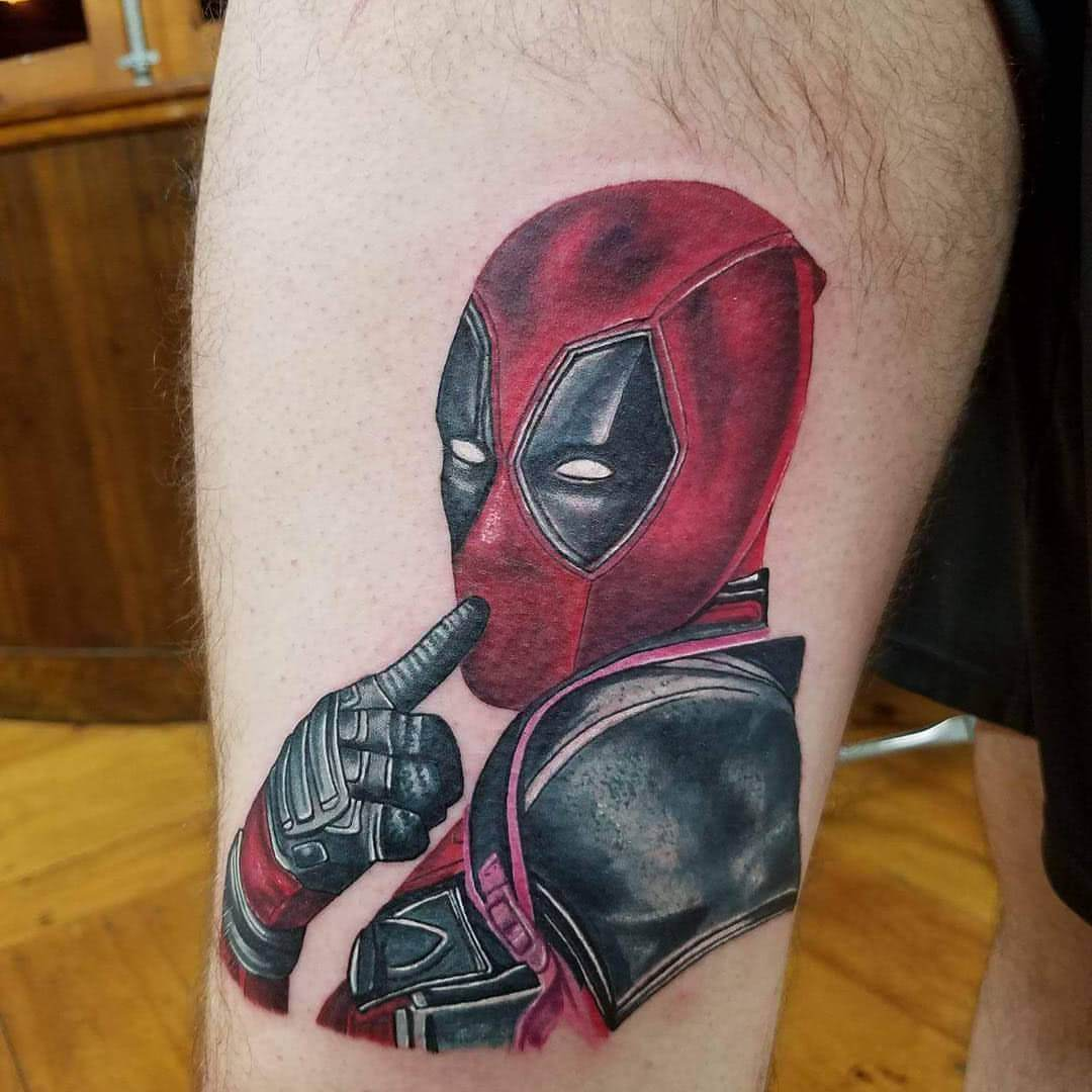 Tattoo Deadpool in sexy Pose
