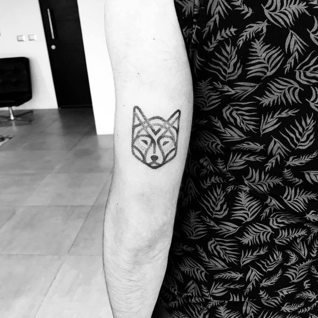 Tattoo Geometrischer Hund