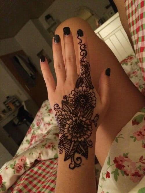 Tattoo Henna Blumen Tattoo