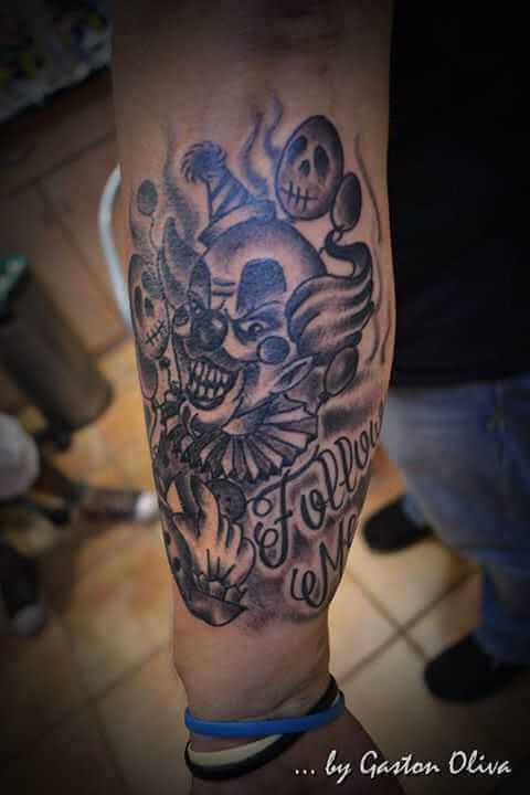 Tattoo Horror Clown