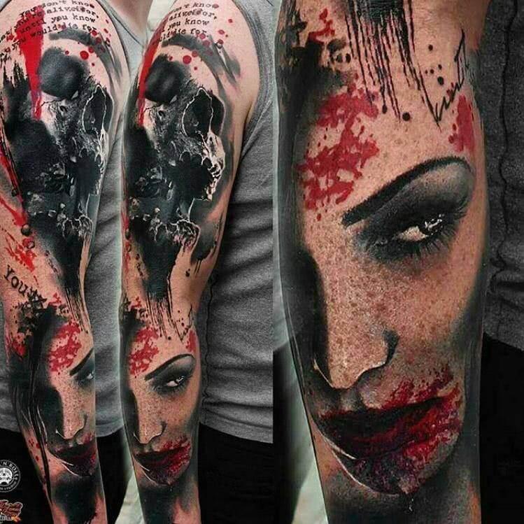 Tattoo Horror Sleeve Arm