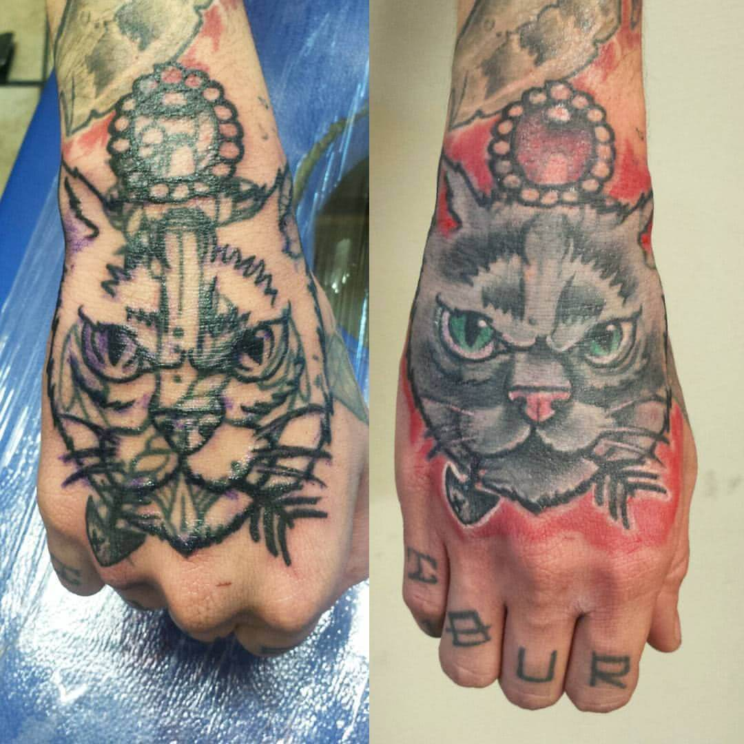 Tattoo Katzen Cover Up