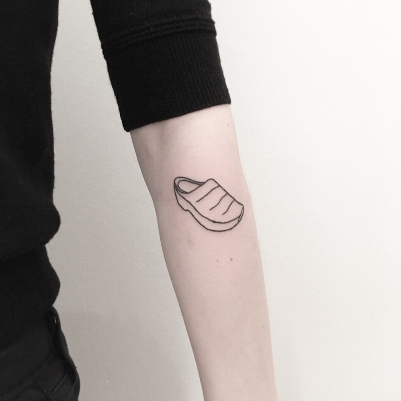 Tattoo kleiner Schuh