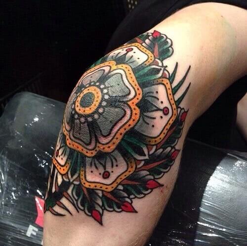 Tattoo Oldschool Blumen