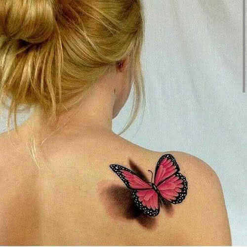 Tattoo Roter Schmetterling