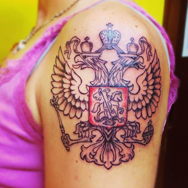 Tattoo Russisches Wappen