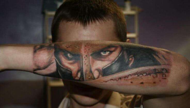Tattoo Spartianer aud dem Unterarm