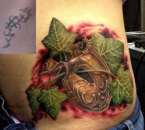 Tattoo Venezianische Maske Cover Up