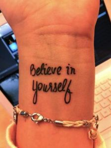 Frase: Believe in yourself