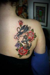 Flores, pájaro y sobre de amor