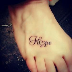 Frase: Hope formando Corazón