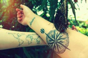 Mapa del Mundo, Frase: Amore, Cruz del Sur