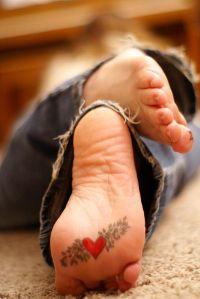 Corazón con hojitas
