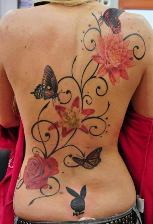 Tatuaje-Mariposas-Firuletes-Flores