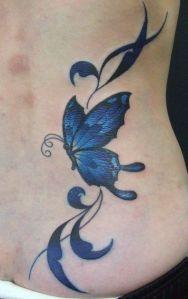 Mariposa Azul Intenso & Firuletes
