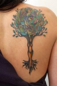 Árbol de Flores con Silueta de Mujer