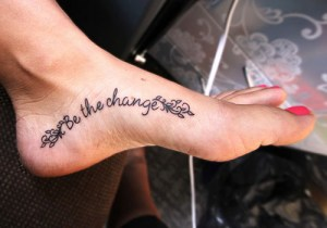 Frase: Be the Change