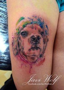 Perro en Acuarelas by Javi Wolf