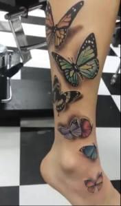 Mariposas 3D Pierna