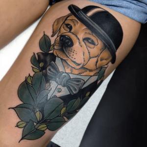 Perro en traje by Cree MCCahill