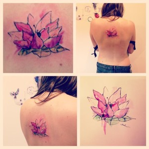 Flor de Loto by Lluch tattoo
