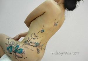 Flores y Mariposas en Acuarelas by Aleksey Platunov