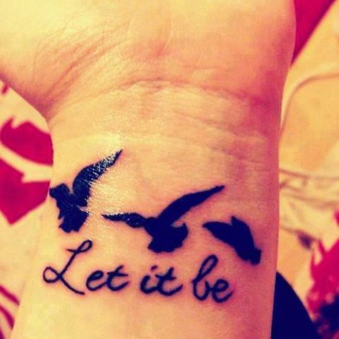 Frase: Let it be y Aves