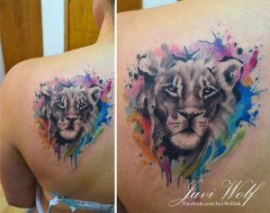 León en Acuarelas by Javi Wolf