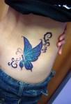 Mariposa Azul y Violeta
