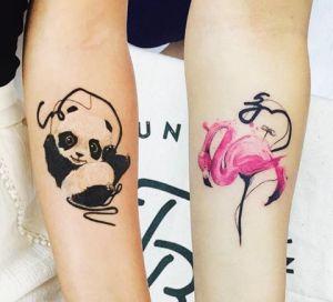 Oso Panda y Flamenco by Tayfun Bezgin