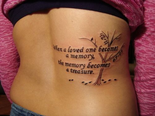 Frase When a loved one becomes a memory , the memory becomes a treasure