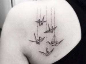 Aves estilo Origami por Brian Woo