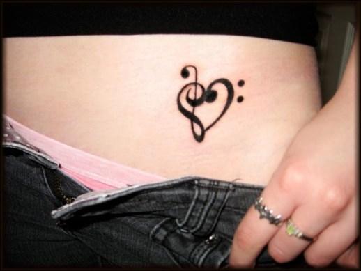 Corazón Notas Musicales