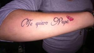 Frase: Te quiero Papá
