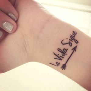 Frase: La vida sigue