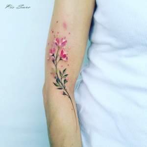 Flores estilo Acuarelas por Pis Saro