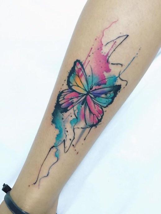 Mariposa estilo Acuarelas