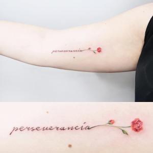 Frase: Perseverancia y Flor