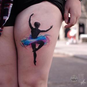 Bailarina estilo Acuarelas por Alberto Cuerva