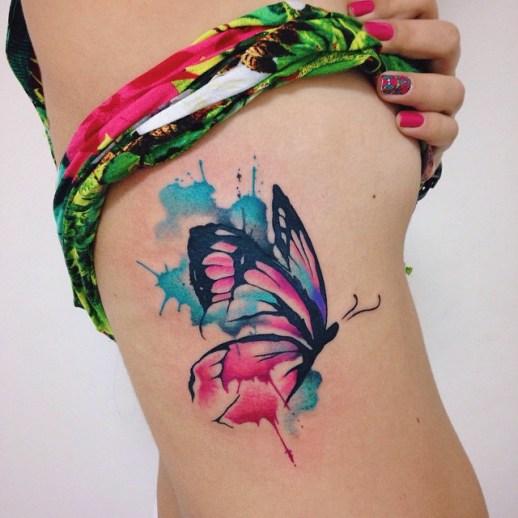 Mariposa estilo acuarelas por Felipe Bernardes