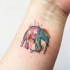 Elefante estilo Acuarelas