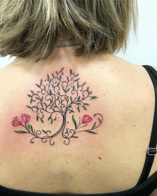 Árbol floreado