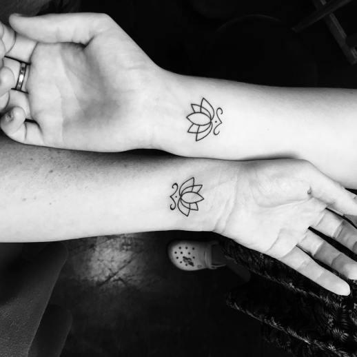 Flor de Loto amistad por Tattoo Life, Edd