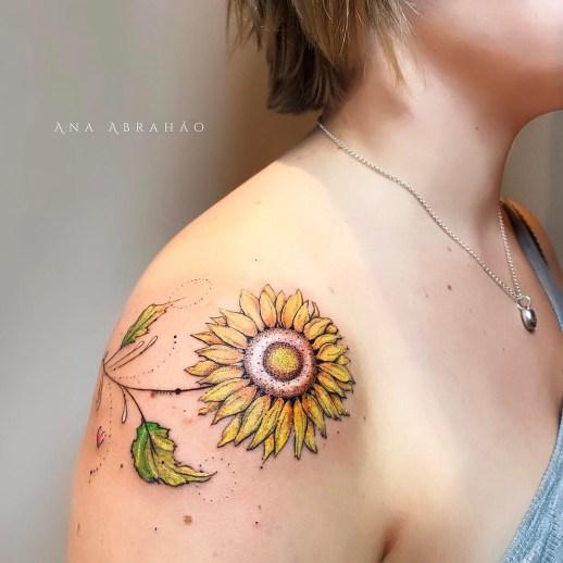Flor de Girasol por Ana Abrahão