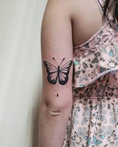 Mariposa por Diego Souza – BarbaTattoo